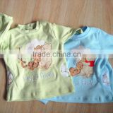 spring autumn cartoon characters baby long tops baby little beer printed cotton baby boy t-shirt