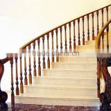Excellent quality durable service marble stair steel wood railing design