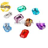 18*25mm Acrylic Point Back Octagon Mix Color Bling Rhinestone&Crystal For Stylish Bags Garment Shoes #GY011-25P(Mix-s)