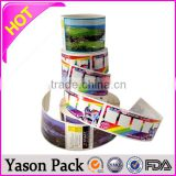 Yason transparent revovable stickers glossy 3d hologram film stickers cut out sticker