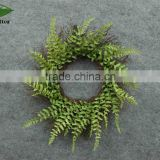 Hanging custom wicker wreath graden decoration indooor