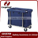 Stainless steel hotel housekeeping Laundry Linen Trolley