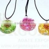 Manufacturer Of Orgone Onyx Disc Pendant Chakra Set : Wholesale Supplier Of Orgone Chakra Set