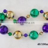 Metallic Jumbo Ball Beads Mardi Gras Beads Necklace Blow Mold Beads