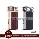 Oblique fire pipe lighter with pipe accessories