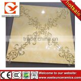 60x60 flower golden micro crystal polished porcelain floor tile for home decoration                                                                         Quality Choice