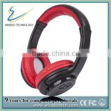 China bluetooth headset price with Bluetooth Stereo Headset BT-27 slot with mp3 player with FM with SDcard reader