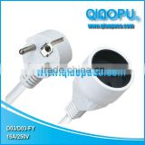 French Extension Cord/french power cord with socket/french extension wire