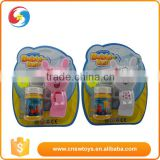 1 bottle of water foam plastic material of the rabbit bubble gun