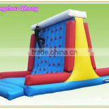 2016 top seller inflatable climbing wall, best quality inflatable rock climbing wall for outdoor used