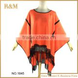 New Arrival Top fashion shawl suede fringe wholesale ladies scarf