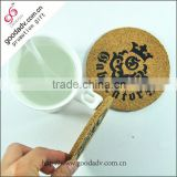 Wholesale custom promotional gifts Full Silk screen printing with logo square cork coasters