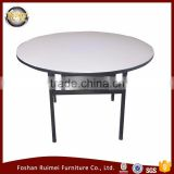 Good quality heavy duty modern design wooden half round simple style luxury dining table
