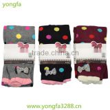 Dot and bow wholesale pantyhose for girls