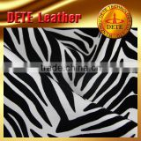 textile leather products upholstery fabrics with zebra pattern PU synthetic leather for bag,sofa