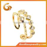 Italian Small size plated mini costume ring jewelry
