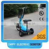 500W48V zappy 3 wheel electric scooter with seat and front head light