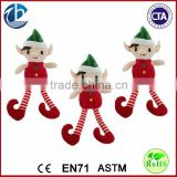 New Arrival Hot Christmas Elf For Promotional Gift/ christmas elf toy/stuffed christmas elf plush toys/santa's plush elf