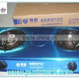 Chinese ACME 2015 Best Price Stainless Steel Double Burner House Cooking Biogas Stove                                                                         Quality Choice