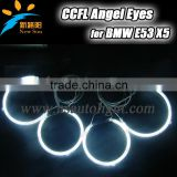 Car accessory headlight with 7 colors super bright 8000K ccfl angel eyes ring 160mm& 127mm for BMW E53 X5