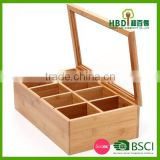 High quality hot selling bamboo tea box,tea bag box ,wood tea box