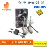 super bright CE RoHS Emark IP68 48w h4 led headlight, 12v philip-s car led headlight bulbs