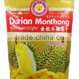 Vacuum Freeze Dried Durian Gold 100 g from Thailand certified HACCP, ISO 22000 , GMP , HALAL and KOSHER [ DRIED FRUIT SNACK ]