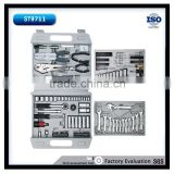 126pcs emergency tool set with 3/8'' deep sockets and combination wrenches hex key sets