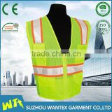 2016 wholesale Latest design Safety vest 100% polyester mesh HV yellow waistcoat for men