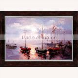 Handmade Knife Sailing Boats abstract Painting on Canvas