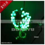 100L LED green string ball light with ball outdoor use led christmas lights for christmas decor,street lights in zhongshan