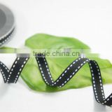 black stitched grosgrain ribbon manufacturer