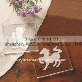 horse acrylic / lucite cup mats / coasters