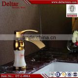 single brass long handle basin faucet taps, tall basin faucet drinking fountain faucet, vessel sink glass waterfall faucet
