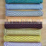Mixed colors Diamond braided rope pp multifilament braid rope polypropylene braided ropes