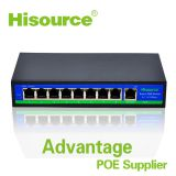 Hot sale 8 port poe switch Hub 48v for IP Camera/IP Phone/Wireless AP