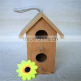 Houseshaped bird nest wood bird nest wood swallow bird nest for double round wood window