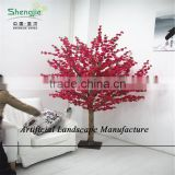 SJZJN 314 Hot Sale Landscaping Artificial/Fake Red Blossom Peach Tree Made in China Competitive Price