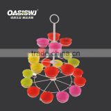 colorful 3-tier wire metal iron rack with the silicone cup- Cupcake Stand/holder-silicone cake mould