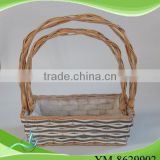 garden willow basket with handmade with top quality