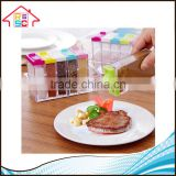 Food Grade 6 pieces Plastic Spice Jar Shaker Seasoning Bottle , Condiment Holder/ Container