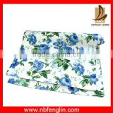 Blue Rose Flower Printed Table Cloth Cheap Table Runners Cotton Canvas Table Runner