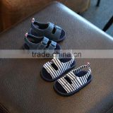 S60590B 2017 fashion baby denim shoes baby hot sale sandals