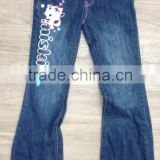 7-16 miskits girls flare leg denim pant #3M5436