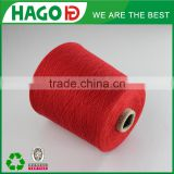 red colour oe recycled blended low twist glove yarn cotton spinning mill yarn ne 6s/1