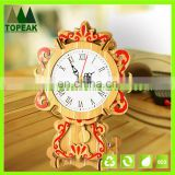 3D diy clock wooden puzzles arts and craft kid toy(install of battery will move the clock)