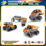 China manufacturer 61PCS stable quality building construction custom plastic toy block truck for kids