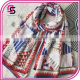 New Fashion Retro Wind Shawl Scarf Spring Summer Grid Thin Beach Towel Polyester Scarves
