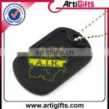 cheap personalize metal blank black dog tags