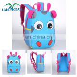 Cute Child Baby Animal Hippo Backpack 3D Cartoon Kids Zoo Animal Shoulder bags